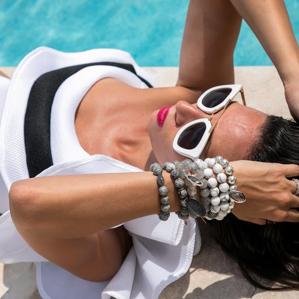 Cool off your Armparty with White Howlite!