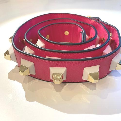 Pink Pyramid Bag Strap
