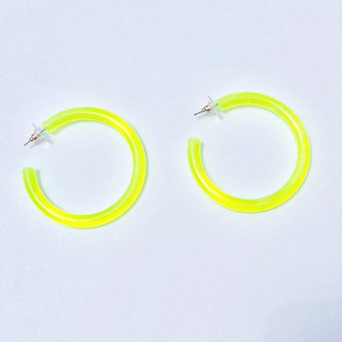Neon Limon Acrylic Earrings