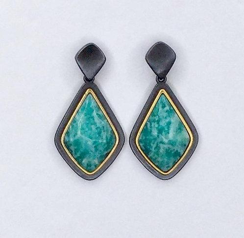 Alyssa Amazonite Teardrop Earrings