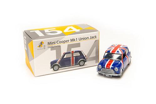 Tiny City Die-cast Model Car – Mini Cooper Mk 1 Union Jack #154