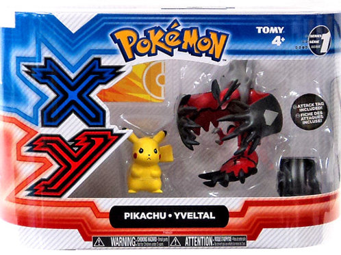 Pokemon - Pikachu and Yveltal 2 Pack 4""