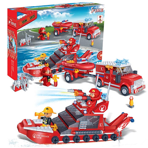 Fire Car and Rescue Boat