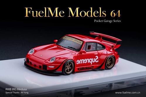 "FuelMe Model Car – RWB 993 ""Medusa"" - Scarlet Red"