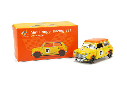Tiny City Die-cast Model Car – Mini Cooper Racing #91