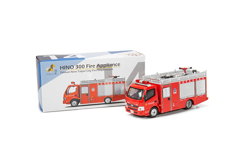 Tiny City Die-cast – HINO 300 New Taipei City Fire Department Fire Appliance #14