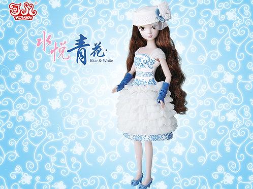 Glamorous Kurhn - Blue & White