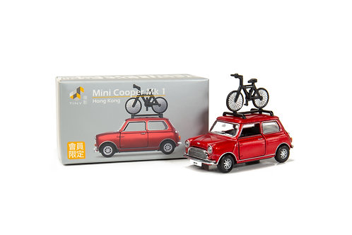 Tiny City Die-cast Model Car – Mini Cooper Mk1 (with bicycle) Special Ed.