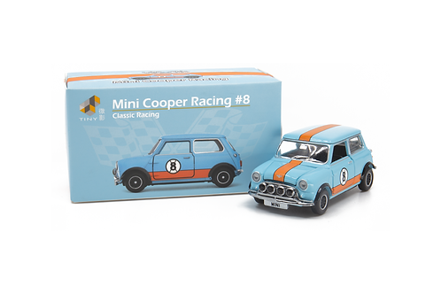 Tiny City Die-cast Model Car – Mini Cooper Racing #8