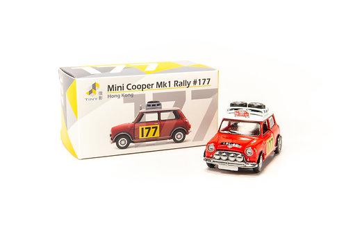 Tiny City Die-cast Model Car – Mini Cooper Mk1 Rally #177