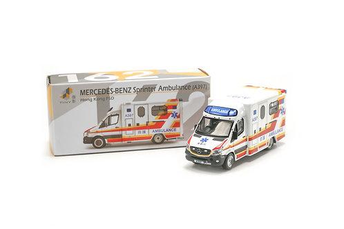 Tiny City Die-cast – Mercedes-Benz Sprinter Facelift HKFSD Ambulance (A397) #162