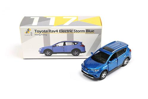 Tiny City Die-cast Model Car – Toyota Rav4 Electric Storm Blue #117