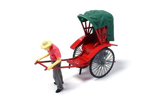 Tiny City Die-cast Model  – 1/35 Hong Kong Rickshaw