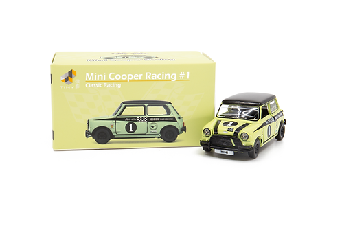 Tiny City Die-cast Model Car – Mini Cooper Racing #1