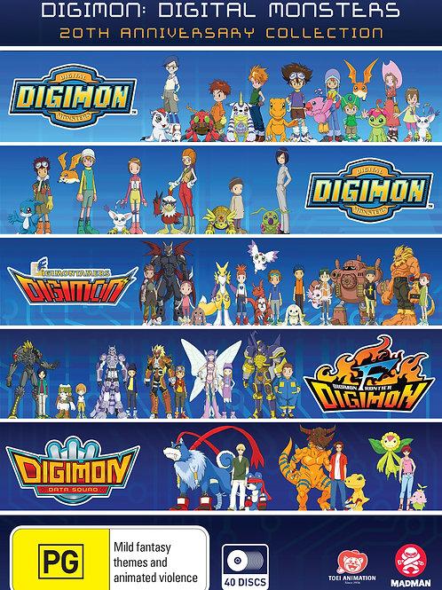 Digimon: Digital Monsters 20th Anniversary Collection (Season 1-5) DVD