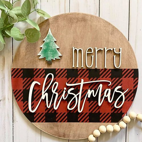 Merry Christmas Round Sign DIY Kit