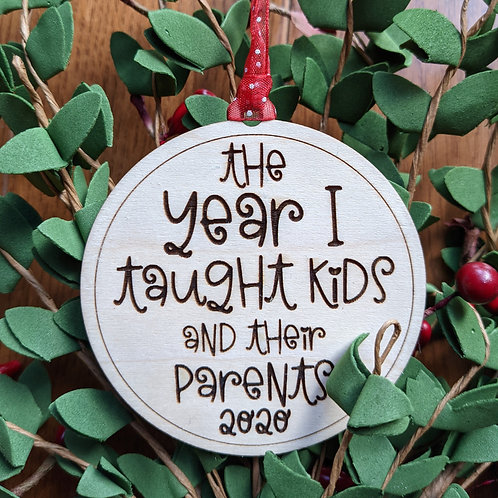 2020 Teacher Ornament