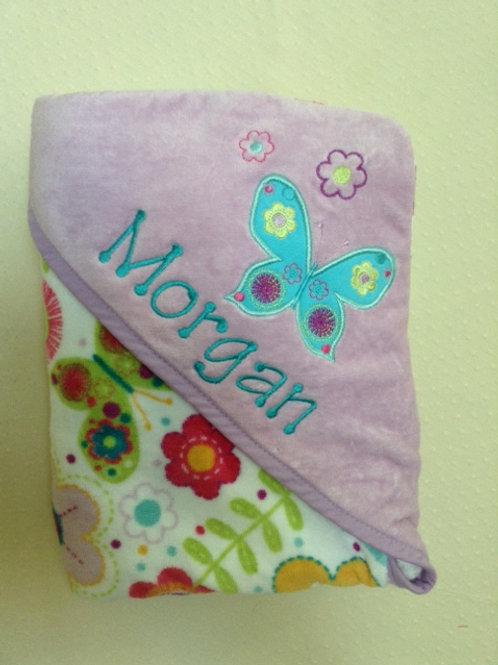 Hooded Bath Towel - Butterfly