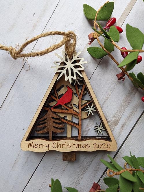 Woodland Cardinal Ornament