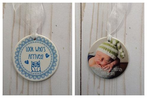 Photo Birth Announcement Ornament