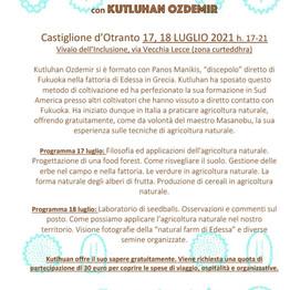Laboratorio di agricoltura naturale: tecniche di coltivazione di masanabu fukuoka con Kutluhan Ozd