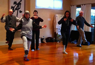 Tai Chi Students in class