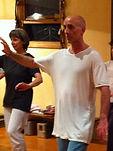 Jim Pescud in a Tai Chi class
