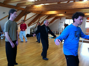 Tai Chi students practising forms