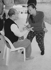 Master Huang Sheng Shyan and Yoke Chin Push Hands practice