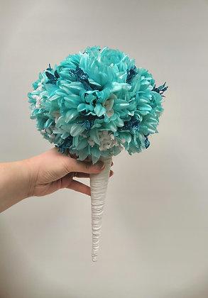 Glitter turquoise scepter
