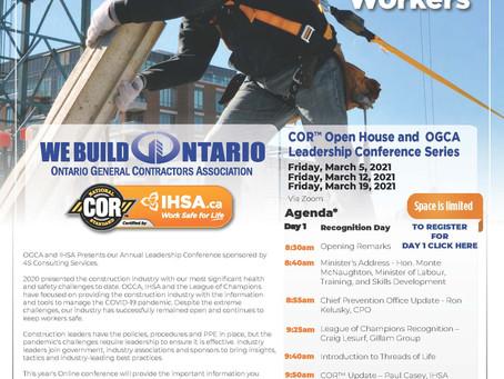 COR Open House and OGCA Leadership Series