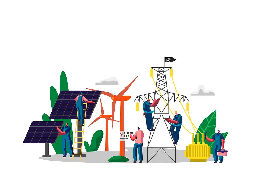 Rural Maintenance Business Illustration