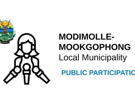 Municipality Tariffs Public Participation [updated]