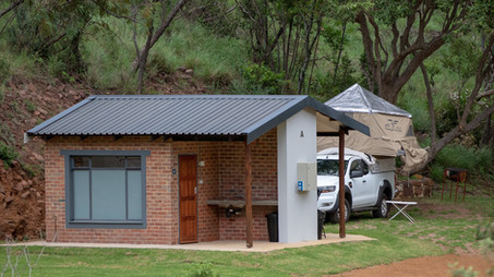 Private washing facilities for each camp site