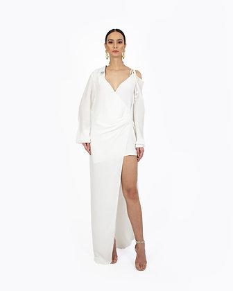 ASYMMETRICAL SHIRT DRESS