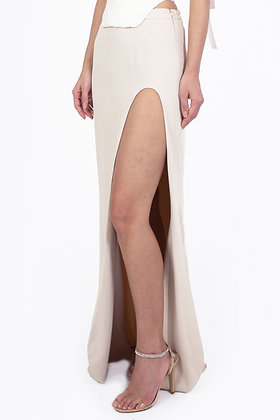 CURVED SLIT SKIRT