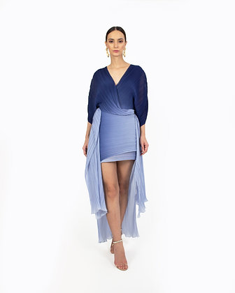 OMBRE WRAP DRESS