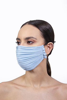 PLEATED FACE MASK - POWDER BLUE