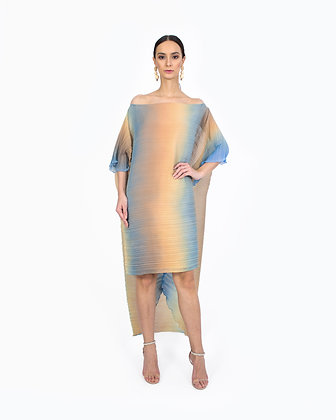 OMBRE CAPE DRESS