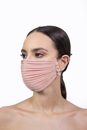 PLEATED FACE MASK - BLUSH