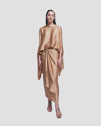 THE AFZAN WITH SARONG SKIRT - GOLD