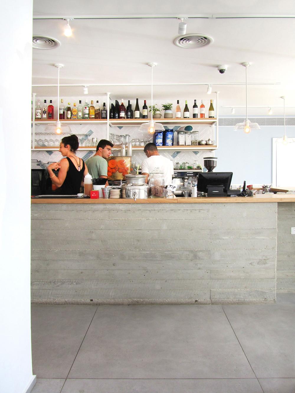 עיצוב פנים מסחרי יענקל'ה בית קפה מסעדה
