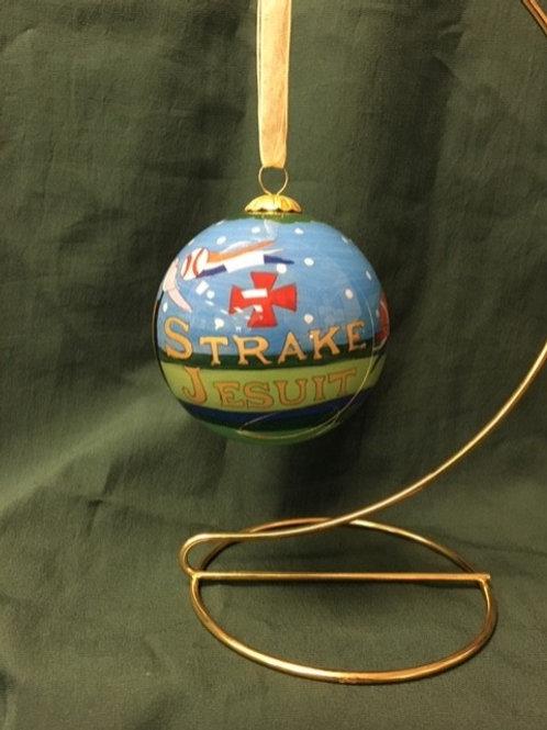 Custom Kitty Keller Jesuit Christmas ornament