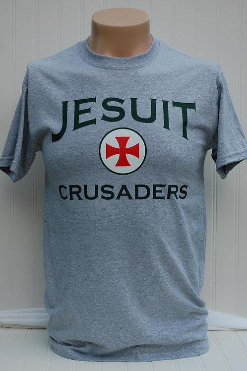 Jesuit crusader circle cross t-shirt