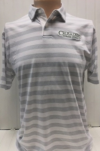 Under Armour cotton blend striped polo