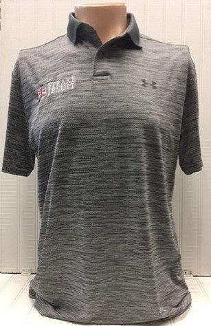 UA grey heathered polo