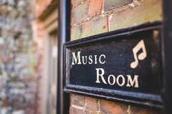 Music Cottage sign