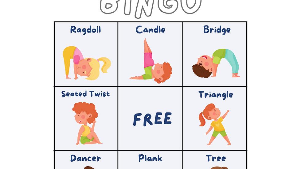 Kids Yoga Bingo- Printable