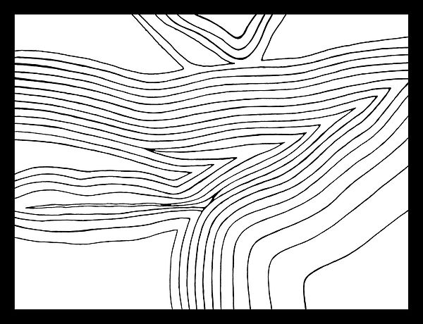 Digitally drawn topographic map of Xaqqa Valley by JP Migneco