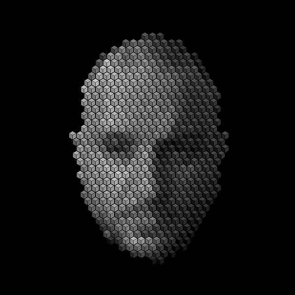 JP Migneco - hexagonal grid - self portrait